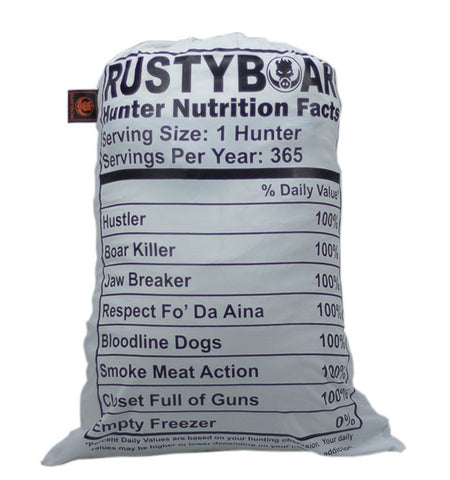 "RUSTYBOAR ""NUTRITION""  HUNTING MEAT BAGS 20 IN. X 30 IN."