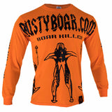 RUSTYBOAR Long Sleeve SAFETY ORANGE Boar Killer T-Shirt