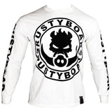 "RUSTYBOAR Long Sleeve WHITE Logo T-Shirt ""THE KALAKOA"""