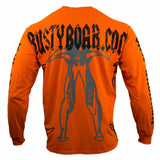 RUSTYBOAR Long Sleeve SAFETY ORANGE Jaw Breaker T-Shirt