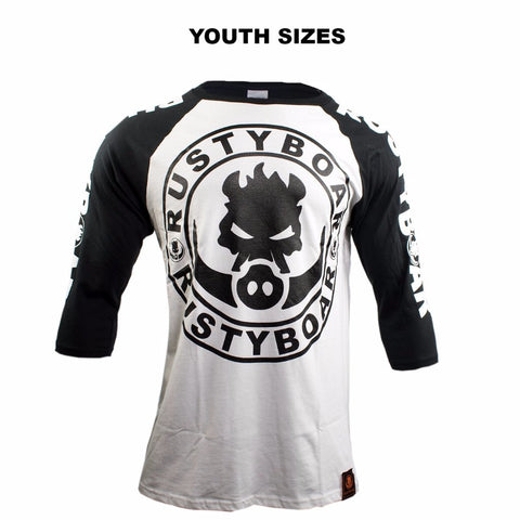 "RUSTYBOAR ""Kalakoa"" Raglan Youth T-Shirt"