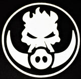 "RUSTYBOAR Logo Die-Cut Reflective Sticker (3""H x 3""L)"