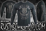 RUSTYBOAR Long Sleeve BLACK on BLACK Logo T-Shirt