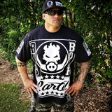 RUSTYBOAR Big Boar Cartel BLACK Short Sleeve T-Shirt