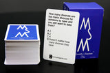 "3rd Edition ""Mentally Stimulate Me"" Cards (FINAL RESTOCK! 107 Left)"