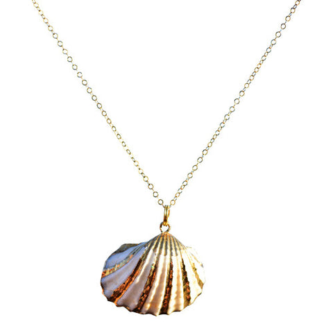 Lemuria - 24kt Gold Plated Seashell Necklace