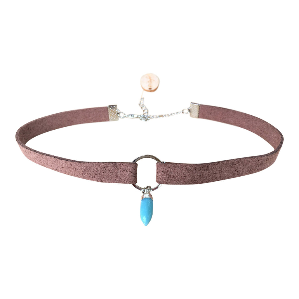 Forever Young - Crystal Suede Choker