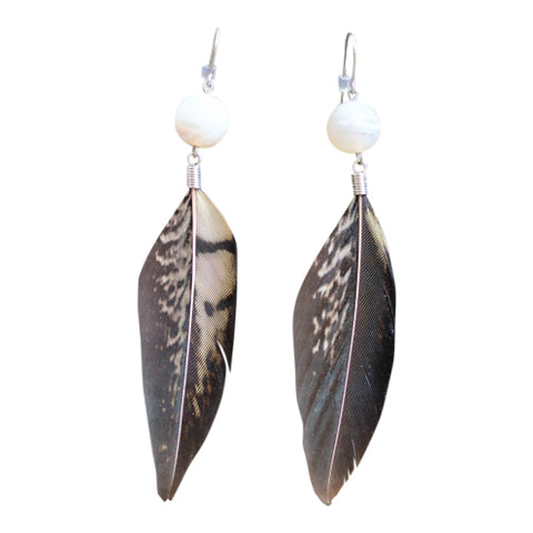 Groupie - Crystal & Feather Earrings