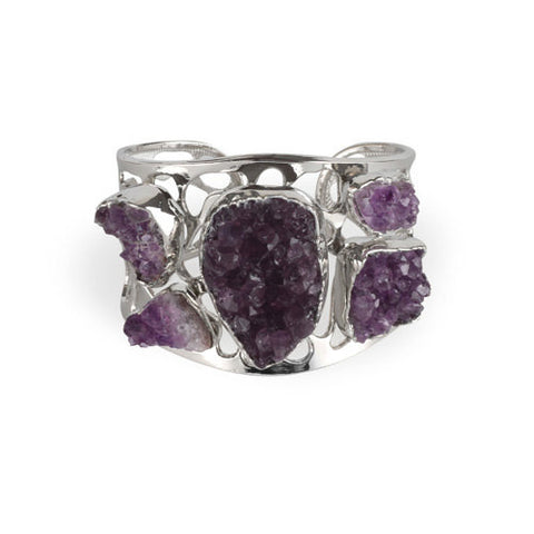 Earth Goddess - Raw Amethyst Cuff