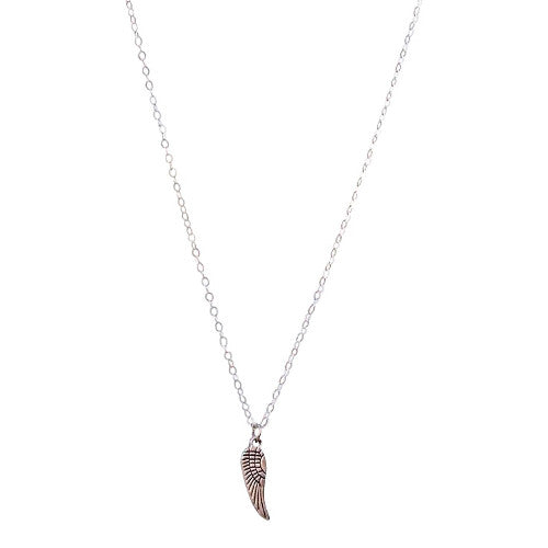 Stairway To Heaven - Silver Feather Necklace