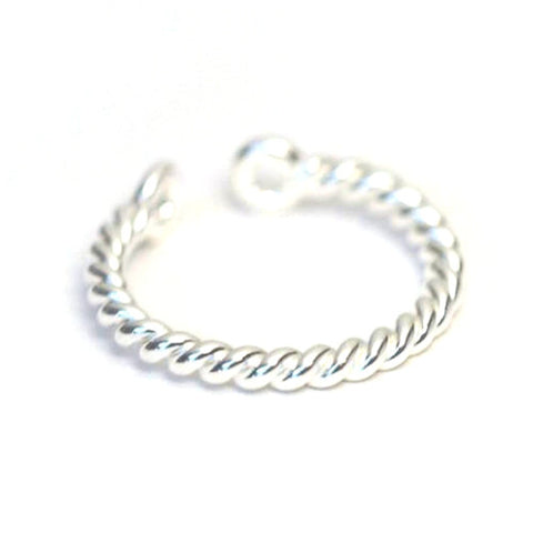 Tied Up - Fine Twisted Rope Ring