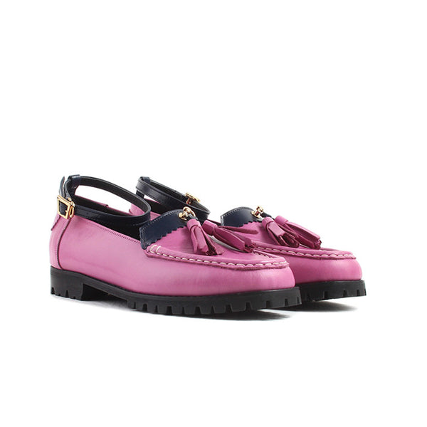 kfashion loafers.  highest quality genuine leather with tassels. removable straps.