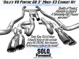 "Solo Mach-X3 Cat-Back Exhaust kit 3"" 08-09 V8 G8"