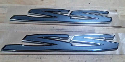 "14-17 Chevy SS Holden ""SS"" Rear Door Badge Set"