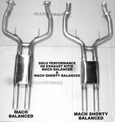 Solo Mach Shorty Balanced CAT Back 08-09 G8