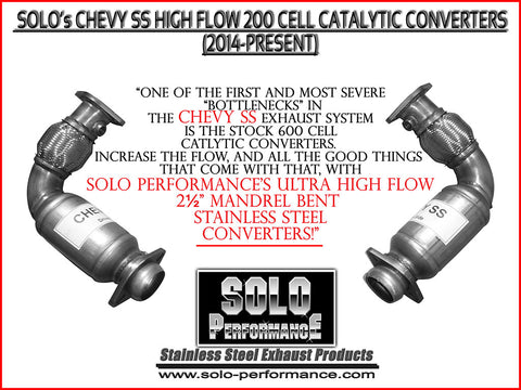 Solo High Flow Converters 14-17 Chevy SS