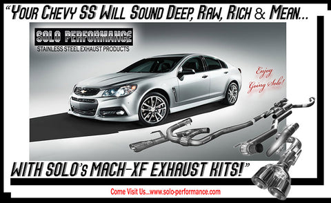 Solo Mach-XF Balanced Shorty Exhaust Kit 14-17 Chevy SS
