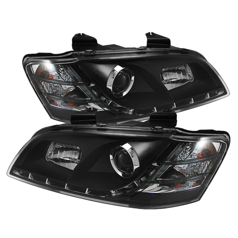 Spyder 08-09 G8 Projector Black Headlight with LED Driving