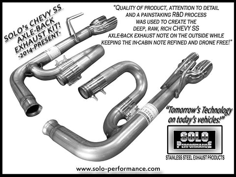 Solo Axle Back Exhaust Kit 14-17 Chevy SS