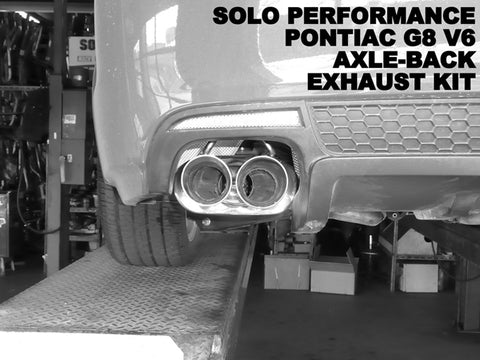 Solo V6 Axle Back Exhaust Kit 08-09 Pontiac G8