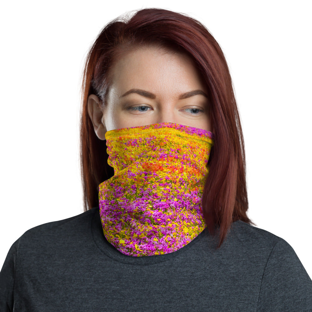 Monet's Field Up Close Face Cover/Neck Gaiter