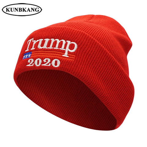 TRUMP 2020 Hat Men Women Winter Knitted Hat Casual Skullies Beanies
