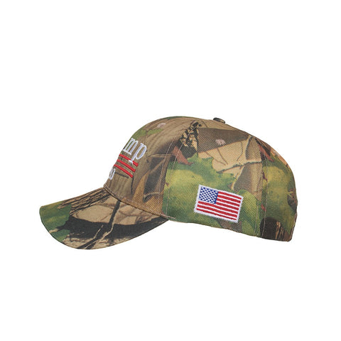 Donald Trump 2020 Cap Camouflage USA Flag Baseball Caps Keep America Great Snapback Hat 3D Embroidery Star Letter Camo Army B645
