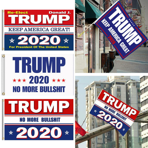TRUMP 2020 Double-sided Brass Grommets 35x60 Inch No More Bullshit Flag