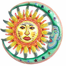 Sun and Moon Green and Yellow - Painted - 22 inch - Haitian Metal Drum Art