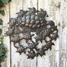"Sea Turtles, Ocean Art, Handmade in Haiti, Recycled Metal Wall Art 23.5"" X 23.5"""