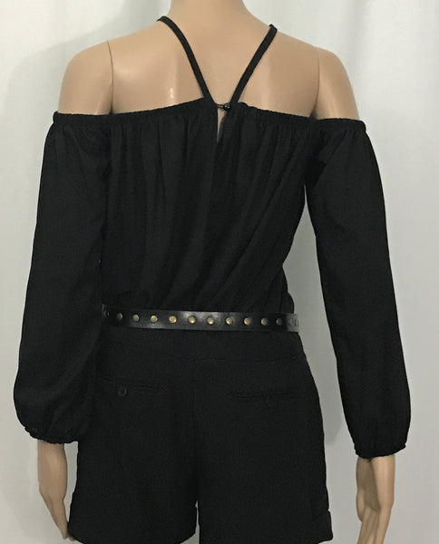 Women's Off-Shoulder Halter Blouse