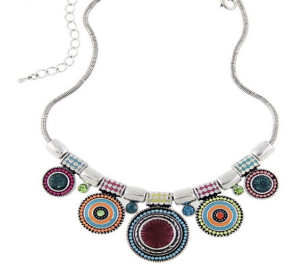 Bohemian Crystal Statement Necklace