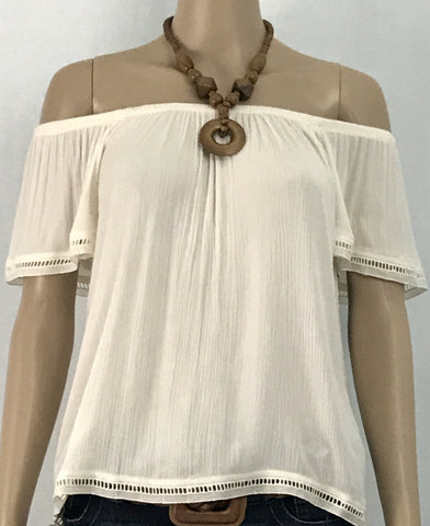 Twine & String Ivory Blouse