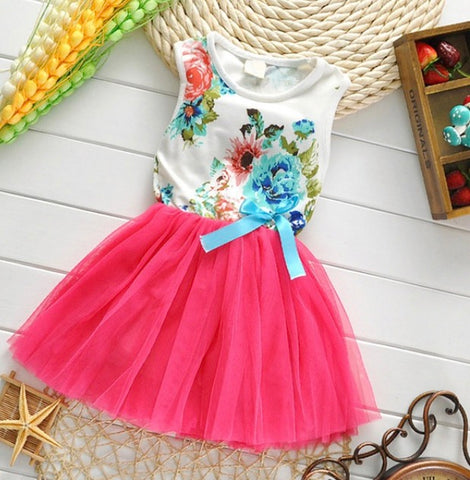 Little Girls Princess Tutu Party Dress