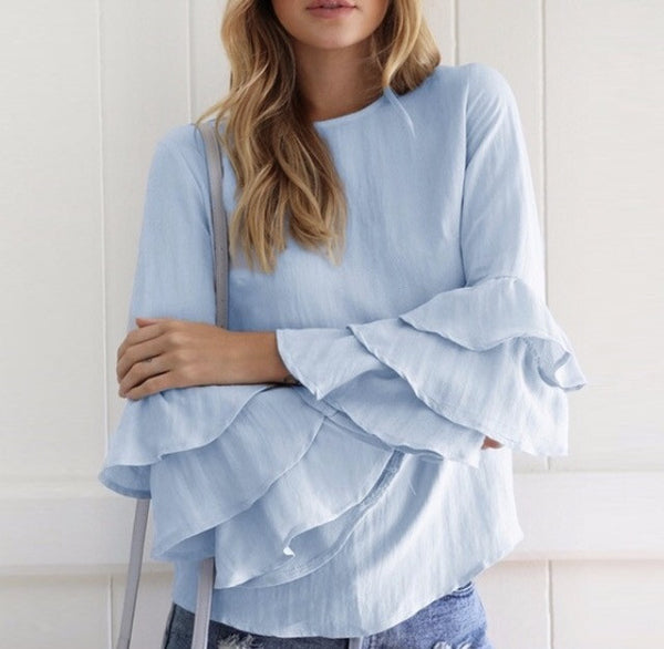 Flirty Fluttery Sleeves Top