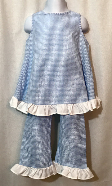 2-PC Southern Girls Gingham Pant Set