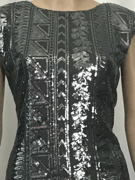 Silver Sequins Socialite Dress