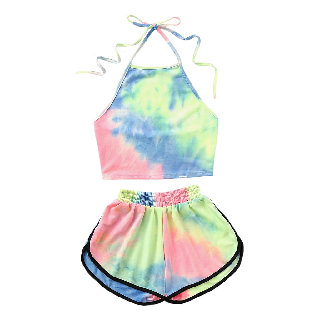 Summer Women Bikinis Sets Beach Holiday Sweet Printed 2Pcs Set Swimwear Hot Sale Girls Fashion Colorful Halter Bikinis