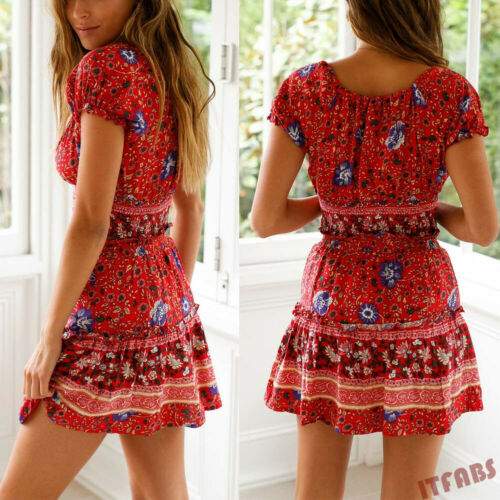 Women's New Hot Summer High Waisted Mini Dress
