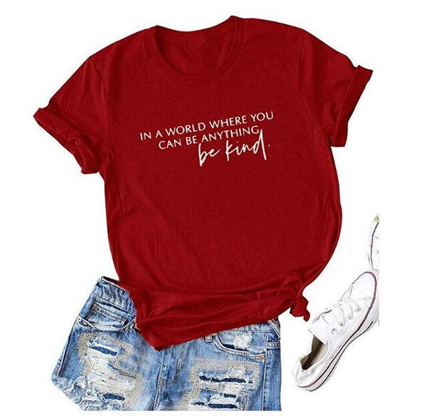 "Women's ""Be Kind"" Graphic T-Shirt (5 Colors)"