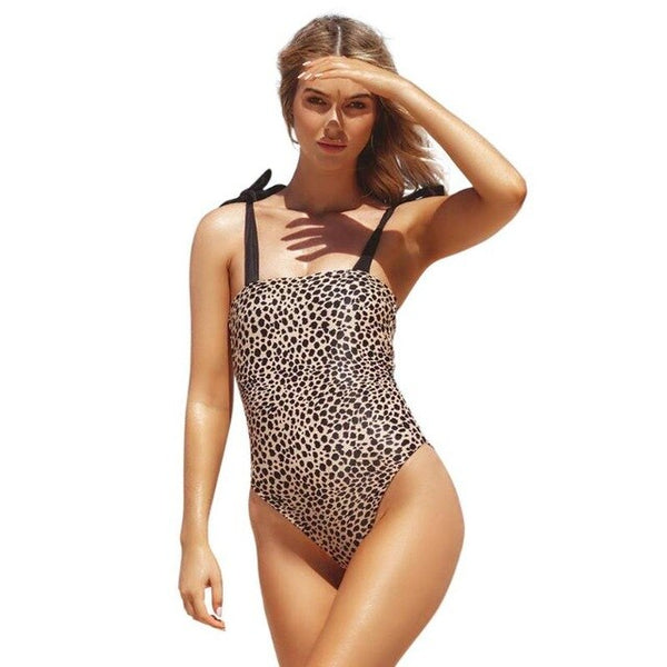 Western style One Piece Swimsuit Fashion bikini Sexy Women Spaghetti Strap Female Bikini High Waist Monokini Beachwear