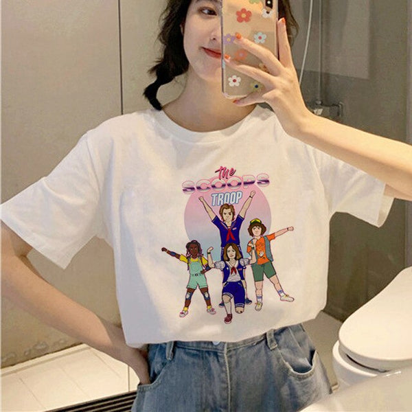 Stranger Things 3 Harajuku T Shirt kawaii graphics letters short sleeves clothing Friends Don't Lie Top Tees Female