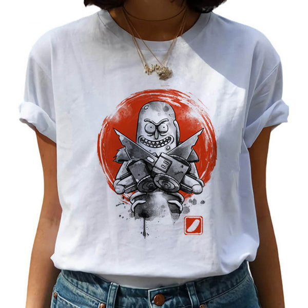 New Rick and Morty Funny Cartoon T Shirt Women Harajuku Ricky N Morty Ullzang T-shirt 90s Graphic Tshirt Fashion Top Tees Female