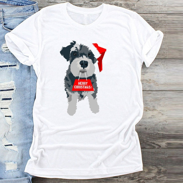 Cookie New Year Merry Tee Shirt Christmas Tumblr Graphic T Shirt Female Tees Camisa Print T-shirts Fashion Women T-Shirt