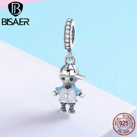 925 Sterling Silver Girl/Boy Pendant Charm For Bracelet/Necklace