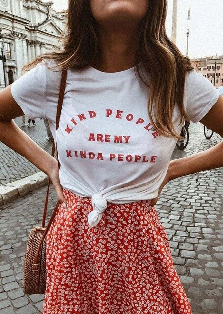 "Women's ""Kind People Are My Kinda People"" Graphic T-Shirt"