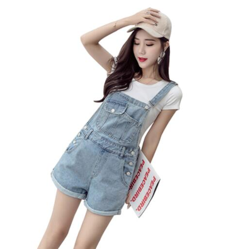 women clothing denim rompers Shorts 2020 summer overalls women playsuits suspenders shorts jeans women jumpsuit shorts w563