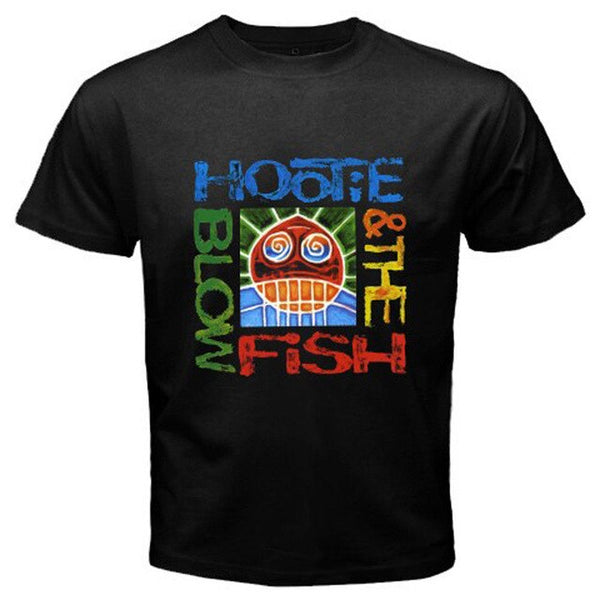Hootie and The Blowfish *Cracked Rear View Rock Legend Black T-Shirt Size S-3XL Short Sleeve T Shirt Cotton T Shirts Top Tee