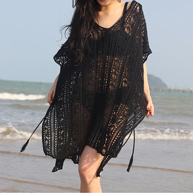327f852ae Beach Dress Tunic White Crochet Dress Women Boho Summer Sexy Vestidos  Verano 2018 Robe Femme Plus Size Clothes Hollow Out Hippie