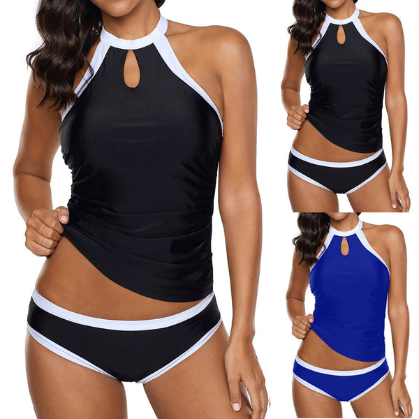 Women Halter Tankini Beach Padded Bathing Trunks Briefs Suit Swimwear